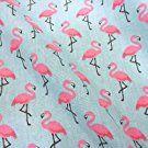 Stoff Baumwollstoff Meterware Flamingo rosa hellblau pink Vogel Kleiderstoff Deko 2017