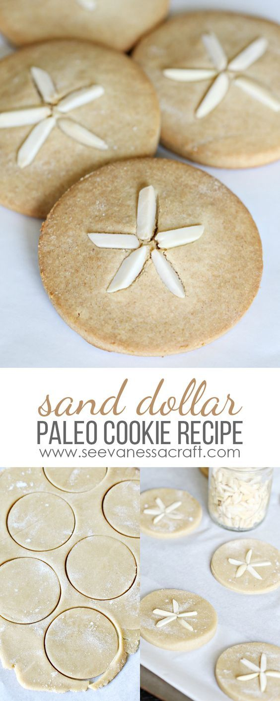 Sand Dollar Paleo Non-Sugar Cookie Recipe