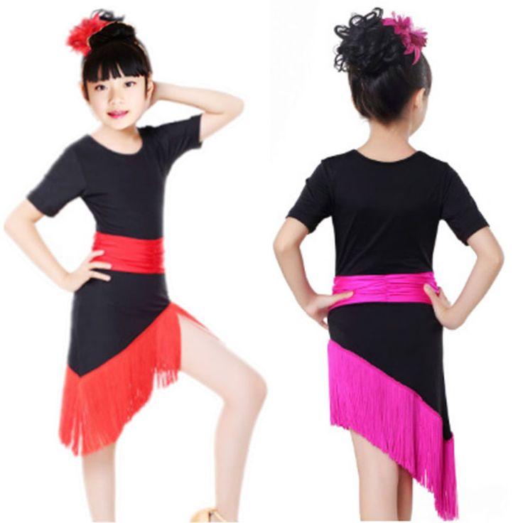 >> Click to Buy << Tassel Girl Child Children Dance Dress For Girls Cha-Cha Samba Kid Latin Dress Dancing Clothing Girl Dancewear Kid Latin Costume #Affiliate
