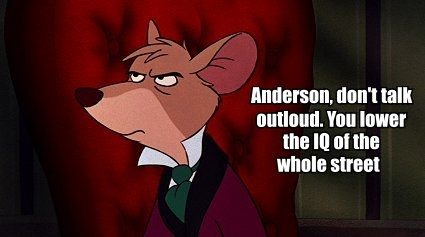 Hahaha.  I love Sherlock/The Great Mouse Detective crossovers.: Detective Crossover, Nerdy Stuff, Some People, Sherlock Quotes, Detective Sherlock Crossover, Mouse Detective Sherlock, Amusement Stuff, Disney, Baker Street