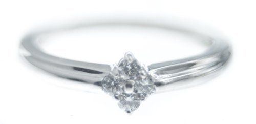 Diamond Cluster Ring 18k White Gold I SI1 Size M New  Price : £225.00 http://www.bronzebarngallery.com/Diamond-Cluster-Ring-White-Gold/dp/B0058I30MO