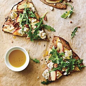 Apple, Goat Cheese, and Pecan Pizza | CookingLight.com #myplate #fruit #dairy #vegetables