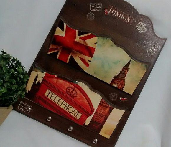 Porta Cartas e Chaves Duplo London