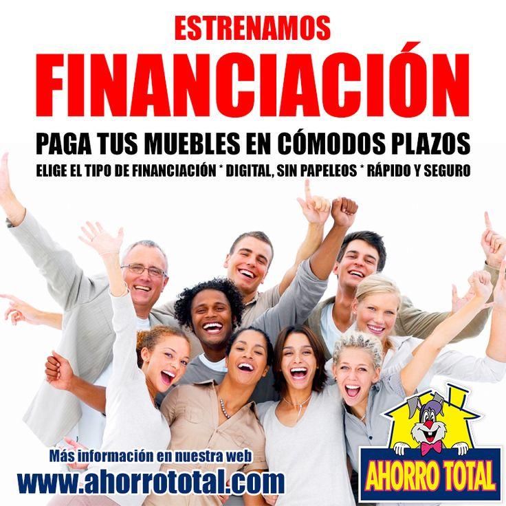 Estrenamos Financiación.  Compra y #financia tus #muebles, podrás pagarlo en cómodos plazos. Infórmate ahora en http://www.ahorrototal.com/