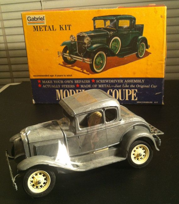Vintage Gabriel Hubley Metal Kit Model A Coupe No 4861