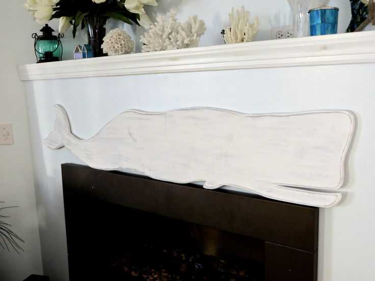 Whale HUGE Wall Decor- 5 ft. Long Whale Great for Nautical Decor!