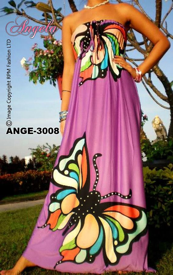 Angela ANGE-3008 New Women Butterfly Evening Long Maxi Dress/Wedding/Beachwear/Party Dress/Prom/Maternity/Plus Size/Sundress/Size M-Xxxl on Etsy, $19.95