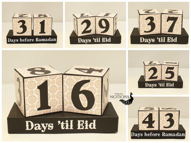 Countdown to Ramadan, Days Until Eid Wooden Display, Eid Countdown Wood Blocks, Ramadan Gifts for Kids, Iftar Gifts, Ramadan Decoration by TimelessNotion on Etsy