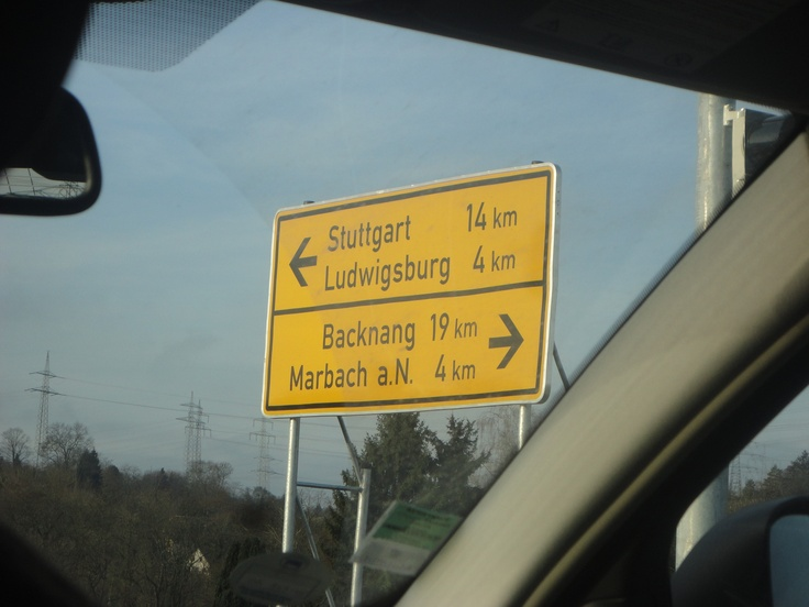 Stuttgart, Germany...my birthplace and Ludwigsburg, Germany...my first hometown