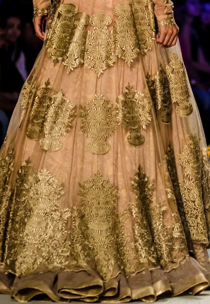 Beautiful golden lehnga - lace obsession