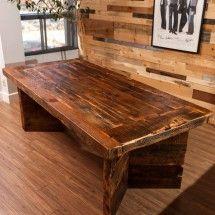 Montreal Hand-Made massive barn wood dining room table
