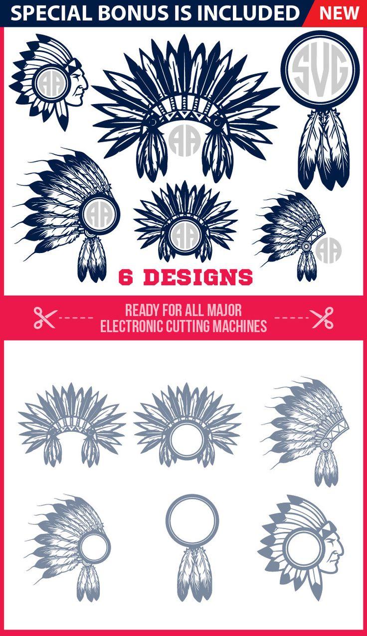 Headdress Svg Monogram Indian SVG Files Indian Head Svg Indian Headdress Svg Head Dress Silhouette Indian Feather Svg Chief Head Silhouette by SVGPRO on Etsy https://www.etsy.com/listing/505372689/headdress-svg-monogram-indian-svg-files