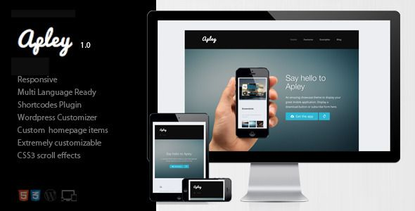 Apley - A mobile application landing page  - ThemeForest Item for Sale