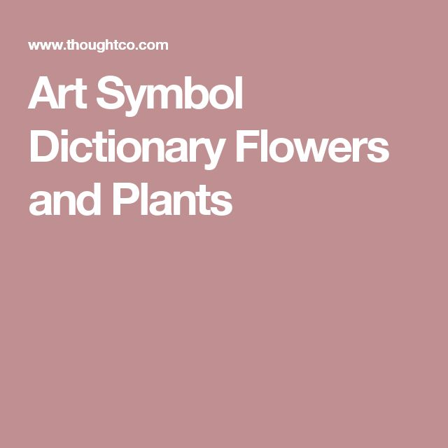Art Symbol Dictionary Flowers and Plants