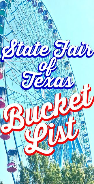 State Fair of Texas Bucket List | What to do at the state fair of texas | Best things at the state fair | Feris wheel | Big Tex | Fletchers Corny Dogs | Texas Star | Texas/ OU Weekend | The Cotton Bowl | The Midway | Fair Park | Dallas Texas | Fall in Dallas |Things to do in Fall in Dallas
