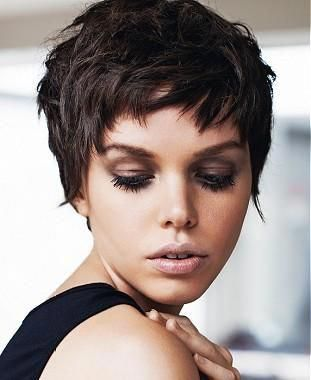 A Short Black straight choppy defined-fringe shortfringe womens haircut hairstyle by Jean Claude Aubry #pixiehaircutgallery