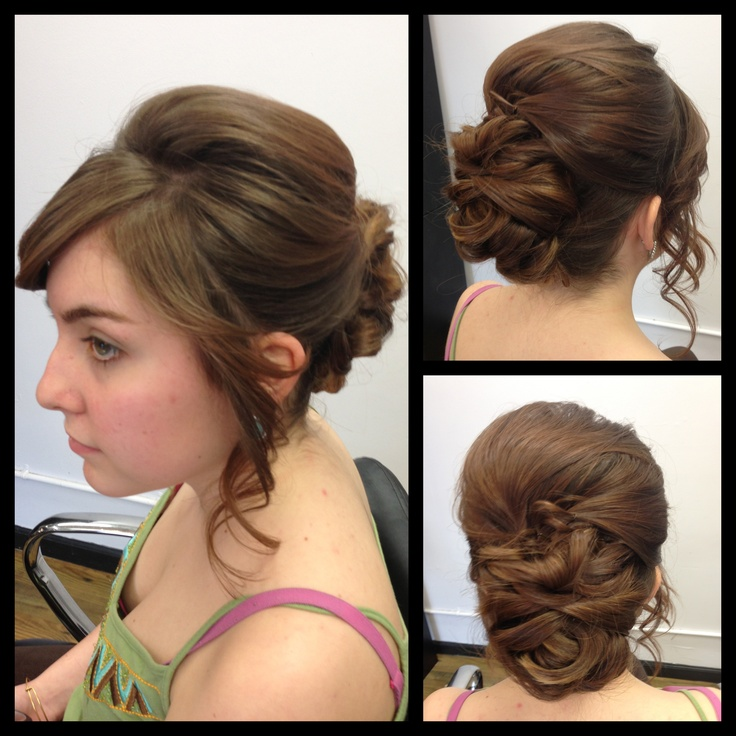 52 best hair by alyse images on pinterest updos bridal hair and wedding updo with long bangs pmusecretfo Images
