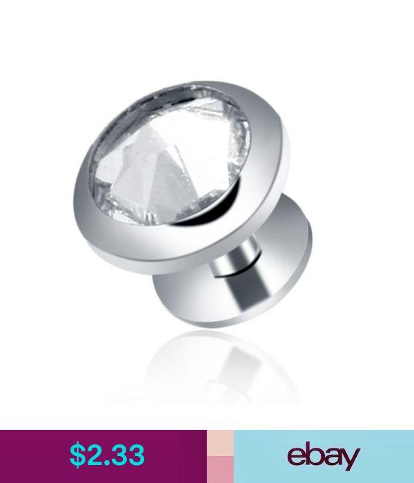 G23 Titanium Silver Clear Micro Gem Dermal Anchor Base Top