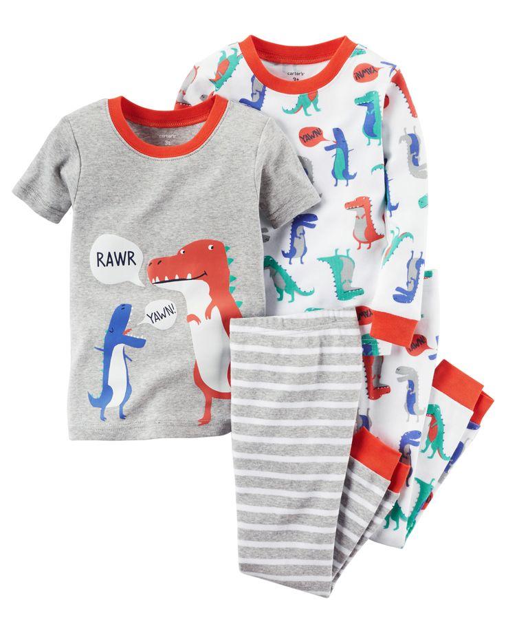 Toddler Boy 4-Piece Snug Fit Cotton PJs | Carter's OshKosh Canada
