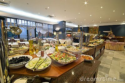 Impressive buffet in a hotel dining room.  <a href='http://www.dreamstime.com/interiors-rcollection4789-resi208938' STYLE='font-size:13px; text-decoration: blink; color:#FF0000'><b>MY INTERIORS COLLECTION »</b></a>  <a href='http://www.dreamstime.com/food-photos-and-table-settings-rcollection4782-resi208938' STYLE='font-size:13px; text-decoration: blink; color:#FF0000'><b>MY FOOD PHOTOS »</b></a>