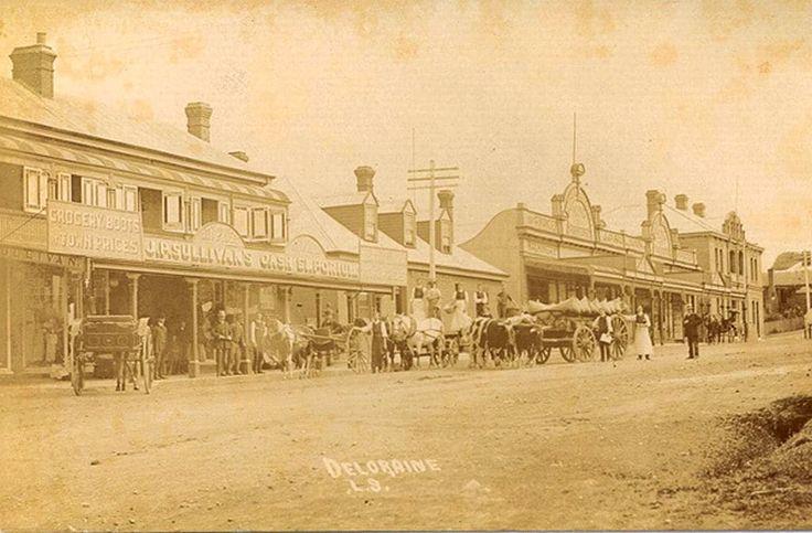 Historic photo of Deloraine Tasmania. Part of the history of Blakes Manor