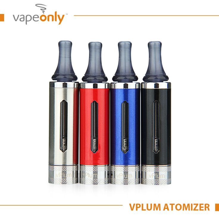 The VapeOnly vPlum 3 ml Tank Atomizer is great for new users with its 1.8Ohm BVC coil!