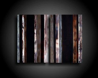 Large Abstract Painting 30 x 15 Modern Canvas Wall by therawcanvas