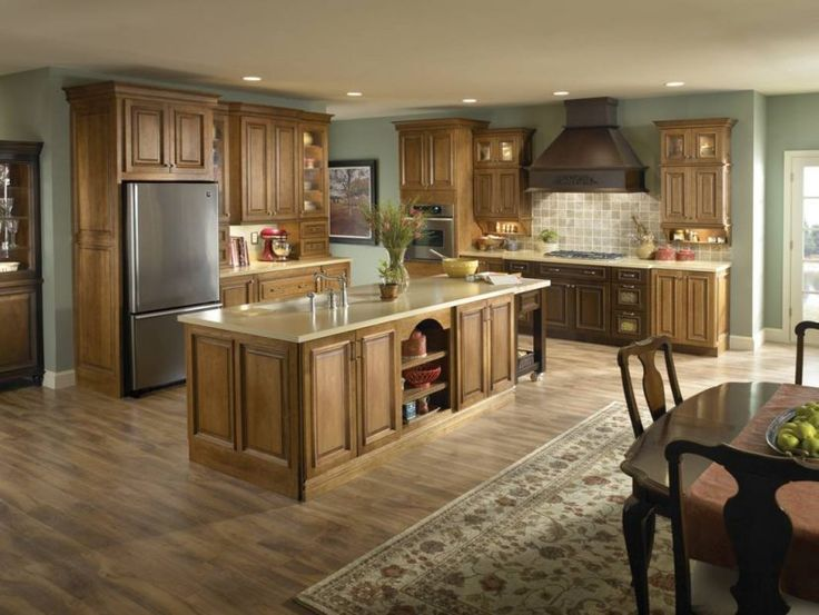 Cabinets paint colors for kitchens with maple light wood ...