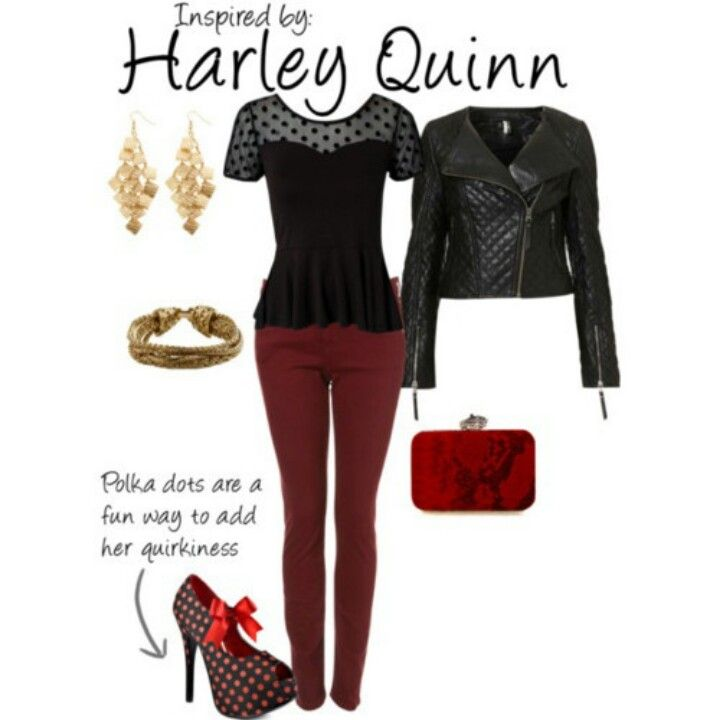Harley Quinn outfit.  When geeks want to dress like comic characters without being Judged