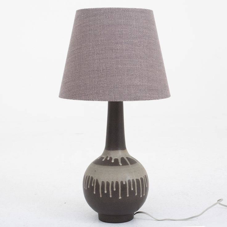 Table lamp in stoneware