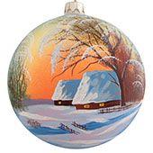 Ёлочный шар Зимний закат