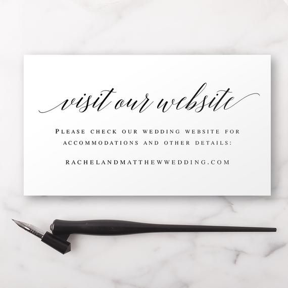 Visit Our Website Card Template Wedding Website Insert Cards Wedding Details Template Wedding Website Card Insert Wedding Information Vm51 V 2020 G