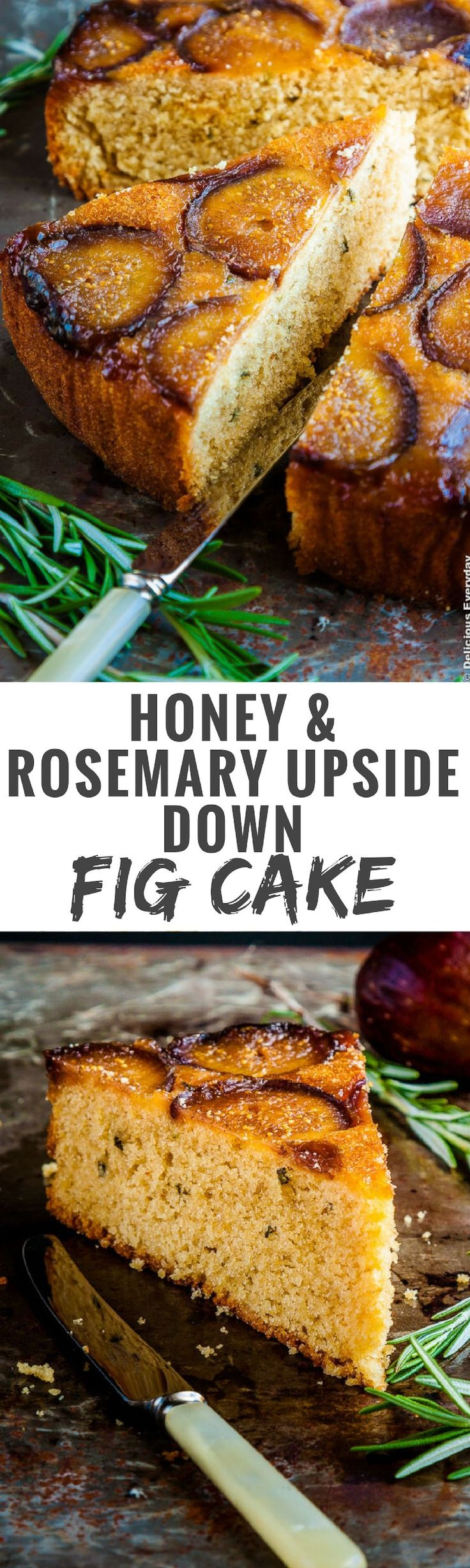 This Upside Down Fig Cake is a beautiful cake, with a tender crumb ...
