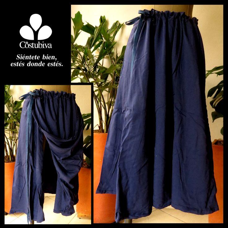 Falda ideal para personas que necesitan ayuda para vestirse o están en cama. Se regula desde el frente. Encuentra más en www.costubiva.com