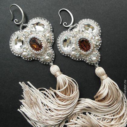 """Серьги-кисти """"Матильда"""" #jewelry #earrings #beads"""