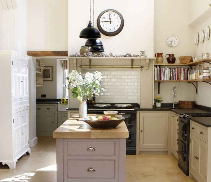 Country Kitchen Range: Aga Oven, Country Kitchen Ovens And English Kitchen Interior