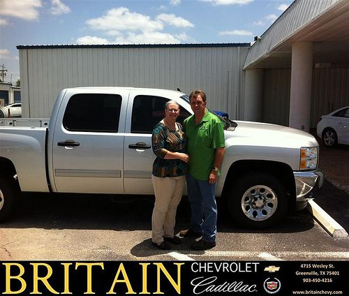 Britain Chevrolet Cadillac would like to say Congratulations to Robert Skinner on the 2013 Chevrolet Silverado 1500 from Branden Chambers
