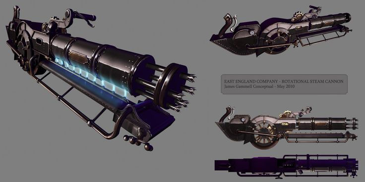 Rotational cannon steampunk by ~DESTRAUDO on deviantART