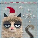 """Stitch your own """"Christmas Grumpy Cat"""" from BrookesBooksPublishing"""