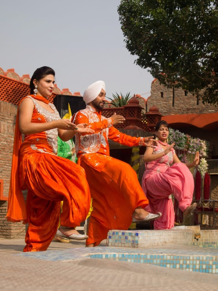 Live Bhangra Performance at Virasat Haveli, Amritsar, Punjab
