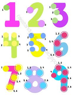 Fake it and you'll make it!: *UPDATE: Touch Math Poster and number line with number counters **Limited Time Freebie