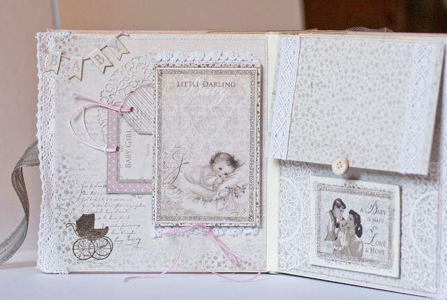 Поделки-посиделки: Альбом для новорожденной девочки 20х20.
