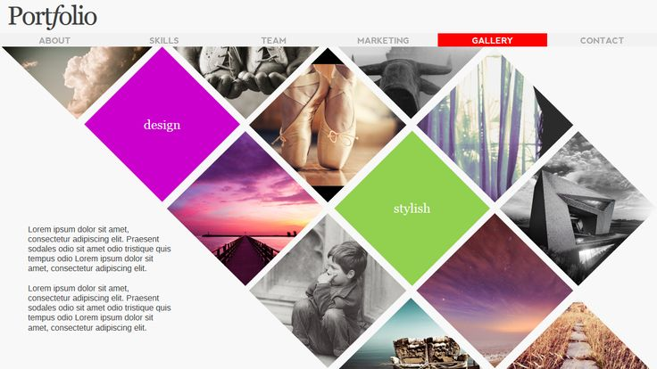 Portfolio Magazine PowerPoint by AWSM Designs on Creative Market
