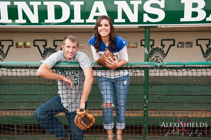 Engagement Ideas, at the softball field Wedding
