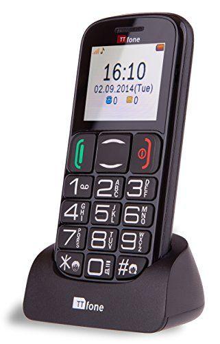 TTfone Mercury 2 Big Button Basic Senior Unlocked Sim Free Mobile Phone with Dock - Black