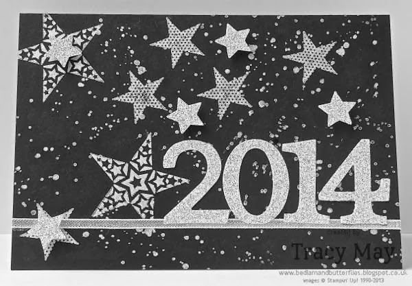 Stampin' Up! UK - A blingy Happy New Year to you all! Simply Stars, Typeset Alphabet Bigz, Merry Minis Punch Pack