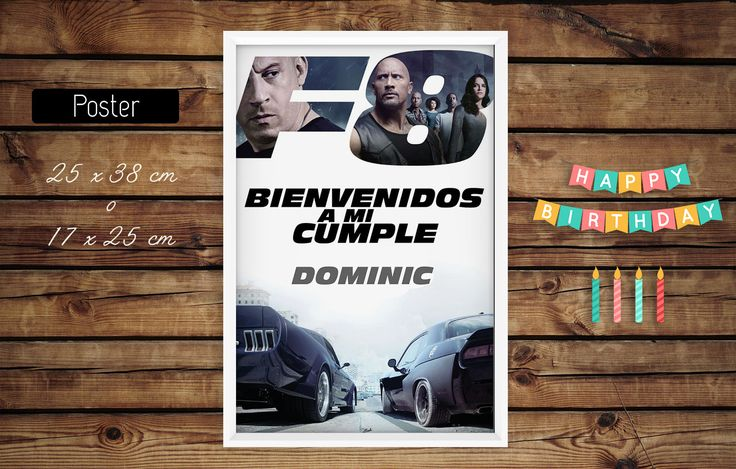 #poster #cartel bienvenida #cumple #rapidoyfurioso #laroca #cars #machines #kitcumple #imprimible #fiesta #cumple #ideas