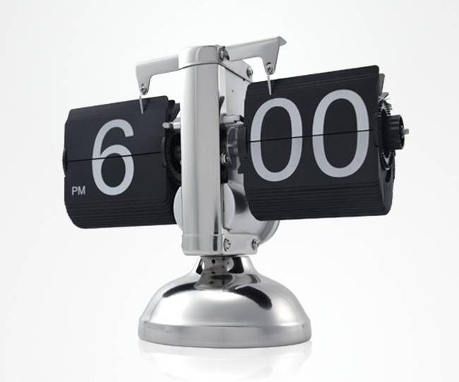 Retro Flip Down Clock, $37.23