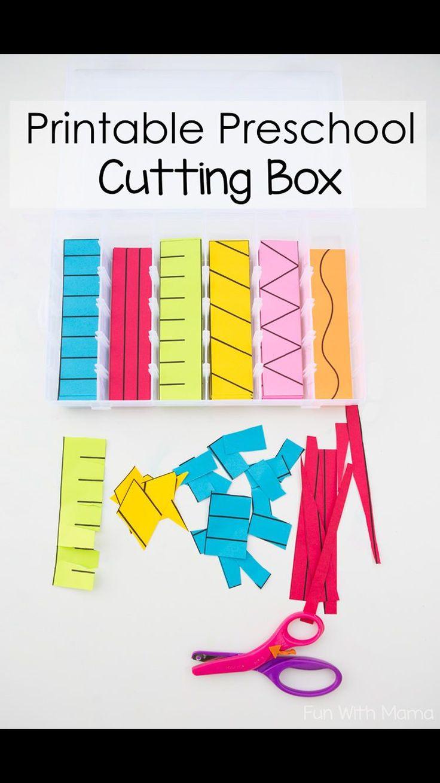 Printable Preschool Cutting Practice