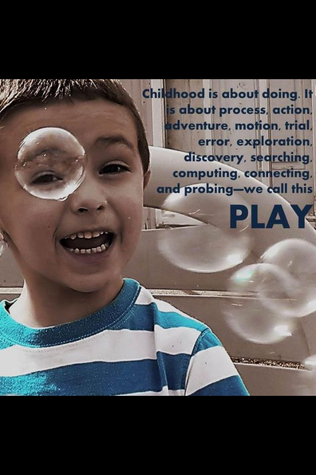 Importance of Play in Early Childhoo years - resources?